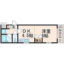 新田メゾン[2階]の間取り