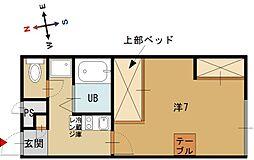ピコ白鳥[1階]の間取り