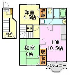 ドエルフォーラム五番館[2階]の間取り