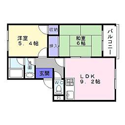 ライスマンション[3階]の間取り
