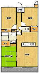 兵庫県宝塚市安倉南2丁目の賃貸マンションの間取り