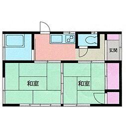 [一戸建] 神奈川県海老名市大谷北2丁目 の賃貸【/】の間取り