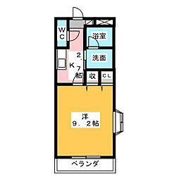 Casa 'F[3階]の間取り