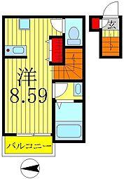 パークテラス新松戸II[2階]の間取り