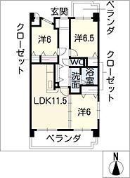 プラウ正木[6階]の間取り