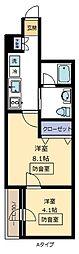 Note Kumegawa[301号室]の間取り