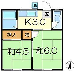 米田コーポ[2階]の間取り