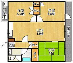 第3オリエンタルマンション[3階]の間取り