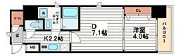 スプランディッド淀屋橋DUE[14階]の間取り