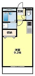 愛知県豊田市下市場町8丁目の賃貸アパートの間取り