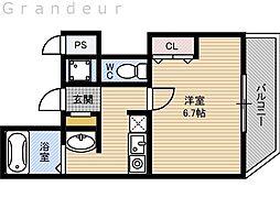 Osaka Metro長堀鶴見緑地線 蒲生四丁目駅 徒歩4分の賃貸マンション 7階1Kの間取り