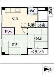 杵屋ビル[3階]の間取り