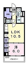 カーサブライト・DDS[3階]の間取り