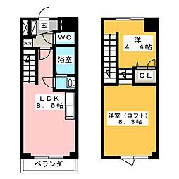 ohana鎌倉 5階1SLDKの間取り