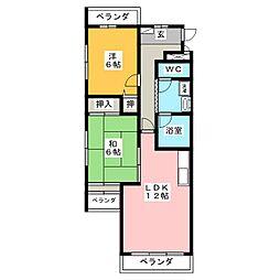 オークビラ[3階]の間取り