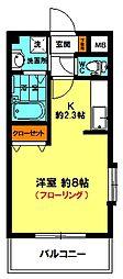 リブレ子安 (5F角)[5階]の間取り