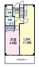 大阪府高石市西取石7丁目の賃貸アパートの間取り