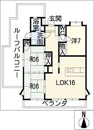 プチシャトー檀渓[3階]の間取り