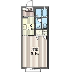 セピアコートL[1階]の間取り