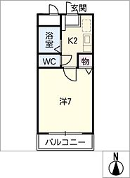 CRESCENT COURT J2[2階]の間取り