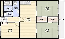 有宏ハイツ[3階]の間取り