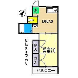 小坂ハイツ[2階]の間取り