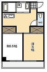 横山マンション[201号室]の間取り