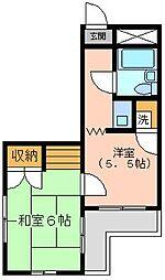 金沢八景相川ビル[3階]の間取り