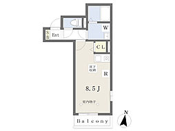 JR東海道本線 平塚駅 徒歩7分の賃貸アパート 1階ワンルームの間取り