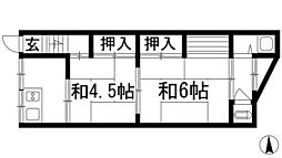 雛倉文化[2階]の間取り
