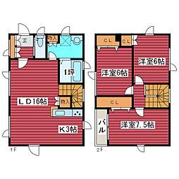 [一戸建] 北海道札幌市豊平区福住一条3丁目 の賃貸【/】の間取り