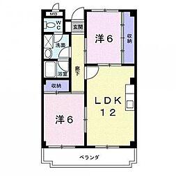 京ハイツI[2階]の間取り