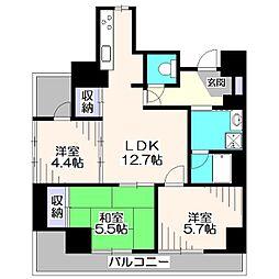 東京都練馬区大泉学園町1丁目の賃貸マンションの間取り