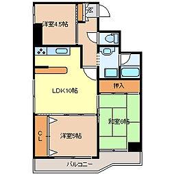 シャングリラ花京院[3階]の間取り