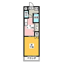 メゾン大橋II[3階]の間取り
