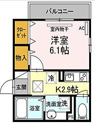 東京都大田区南久が原2丁目の賃貸アパートの間取り