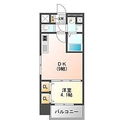 スプランディッドI 10階1DKの間取り