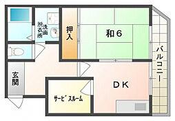 ガーデンハイツ[3階]の間取り