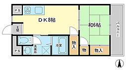 兵庫県姫路市神子岡前1丁目の賃貸マンションの間取り