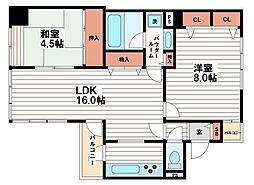日宝ライフ十二軒町[8階]の間取り