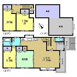 釧路市鶴野東3丁目 戸建て 4LDKの間取り