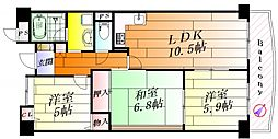 ステーションハイツ千里丘2[3階]の間取り