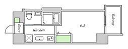 JR大阪環状線 鶴橋駅 徒歩2分の賃貸マンション 3階1Kの間取り