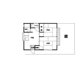 ムトウアパート[1階]の間取り