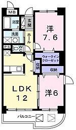 ヴェルハイム[4階]の間取り