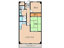 センチュリーコート紀ノ川107号[1階]の間取り