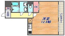 兵庫県神戸市東灘区深江北町1丁目の賃貸アパートの間取り