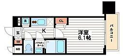 プレサンス松屋町駅前[10階]の間取り