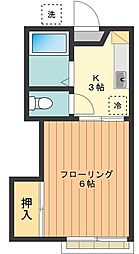 東京都練馬区上石神井1の賃貸アパートの間取り