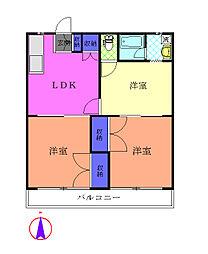 第15島田マンション[1階]の間取り